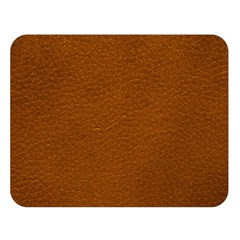 Brown Leather Double Sided Flano Blanket (large)