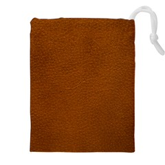 BROWN LEATHER Drawstring Pouches (XXL)