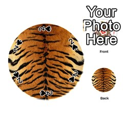 Tiger Fur Playing Cards 54 (round)