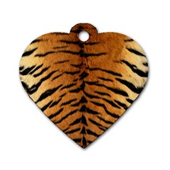 TIGER FUR Dog Tag Heart (Two Sides)