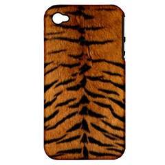 TIGER FUR Apple iPhone 4/4S Hardshell Case (PC+Silicone)
