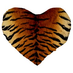 TIGER FUR Large 19  Premium Flano Heart Shape Cushions