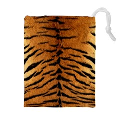TIGER FUR Drawstring Pouches (Extra Large)