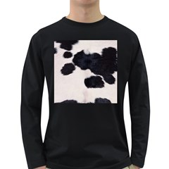 SPOTTED COW HIDE Long Sleeve Dark T-Shirts