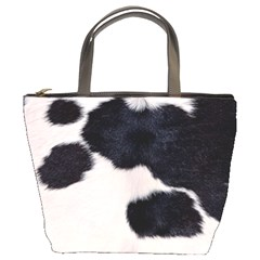 SPOTTED COW HIDE Bucket Bags
