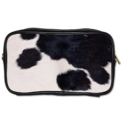 SPOTTED COW HIDE Toiletries Bags