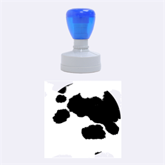 Spotted Cow Hide Rubber Round Stamps (medium)
