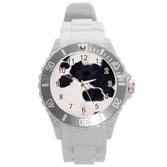SPOTTED COW HIDE Round Plastic Sport Watch (L)