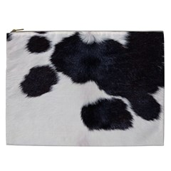 SPOTTED COW HIDE Cosmetic Bag (XXL)