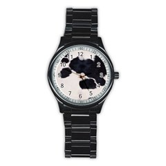 SPOTTED COW HIDE Stainless Steel Round Watches