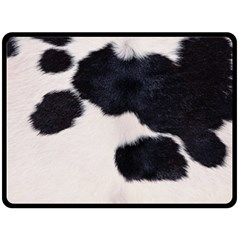 Spotted Cow Hide Double Sided Fleece Blanket (large)