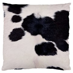 SPOTTED COW HIDE Standard Flano Cushion Cases (One Side)