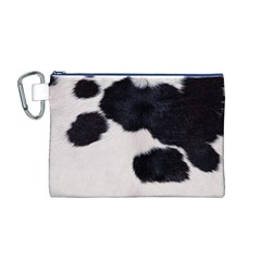 SPOTTED COW HIDE Canvas Cosmetic Bag (M)