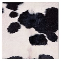 SPOTTED COW HIDE Large Satin Scarf (Square)