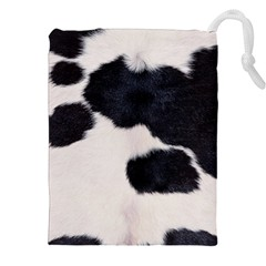 SPOTTED COW HIDE Drawstring Pouches (XXL)