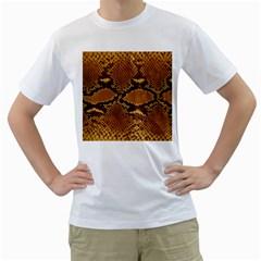 SNAKE SKIN Men s T-Shirt (White) (Two Sided)