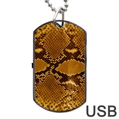 SNAKE SKIN Dog Tag USB Flash (Two Sides)