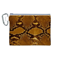SNAKE SKIN Canvas Cosmetic Bag (L)