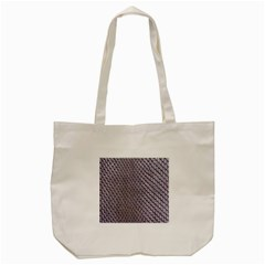 Silver Snake Skin Tote Bag (cream)