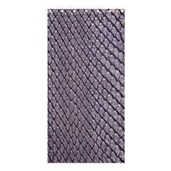 SILVER SNAKE SKIN Shower Curtain 36  x 72  (Stall)