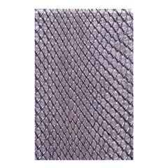SILVER SNAKE SKIN Shower Curtain 48  x 72  (Small)