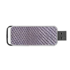 Silver Snake Skin Portable Usb Flash (two Sides)