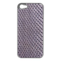 SILVER SNAKE SKIN Apple iPhone 5 Case (Silver)