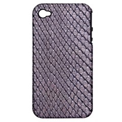 SILVER SNAKE SKIN Apple iPhone 4/4S Hardshell Case (PC+Silicone)