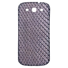 SILVER SNAKE SKIN Samsung Galaxy S3 S III Classic Hardshell Back Case