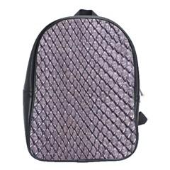 SILVER SNAKE SKIN School Bags (XL)