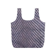 SILVER SNAKE SKIN Full Print Recycle Bags (S)