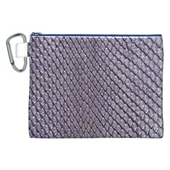 SILVER SNAKE SKIN Canvas Cosmetic Bag (XXL)