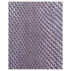 Silver Snake Skin Drawstring Bag (small)