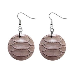 SCALY LEATHER Mini Button Earrings