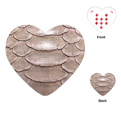 SCALY LEATHER Playing Cards (Heart)