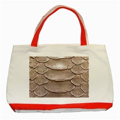 SCALY LEATHER Classic Tote Bag (Red)