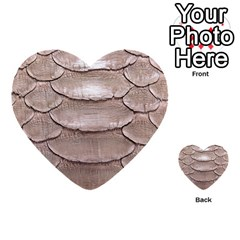 Scaly Leather Multi Purpose Cards (heart)