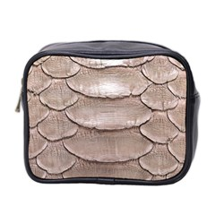 Scaly Leather Mini Toiletries Bag 2 Side