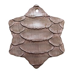 SCALY LEATHER Ornament (Snowflake)