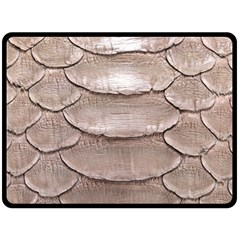 Scaly Leather Double Sided Fleece Blanket (large)