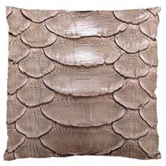 SCALY LEATHER Large Flano Cushion Cases (One Side)