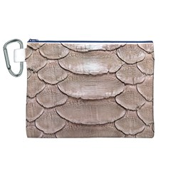 SCALY LEATHER Canvas Cosmetic Bag (XL)