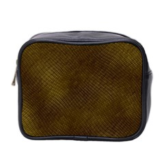Reptile Skin Mini Toiletries Bag 2 Side