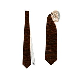 Reddish Brown Fur Neckties (two Side)