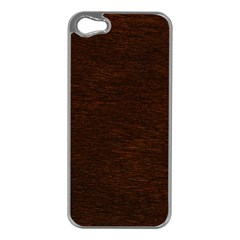 REDDISH BROWN FUR Apple iPhone 5 Case (Silver)