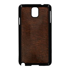 REDDISH BROWN FUR Samsung Galaxy Note 3 Neo Hardshell Case (Black)