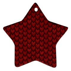 RED REPTILE SKIN Star Ornament (Two Sides)