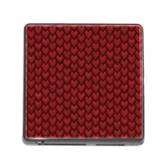 RED REPTILE SKIN Memory Card Reader (Square)