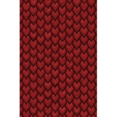 Red Reptile Skin 5 5  X 8 5  Notebooks