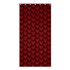 RED REPTILE SKIN Shower Curtain 36  x 72  (Stall)